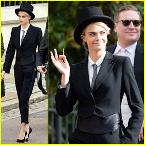 Cara Delevingne Got Permission to Wear a Suit to Princess Eugenie's Wedding!