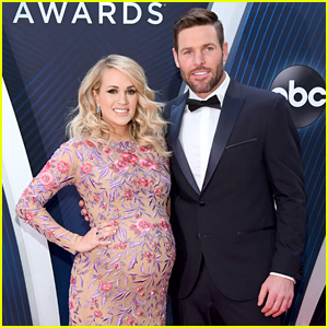 Co-Host Carrie Underwood Gets Support From Hubby Mike Fisher on the Red Carpet at CMA Awards 2018!