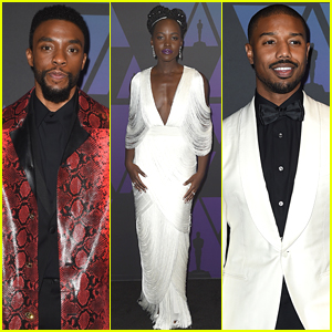 Chadwick Boseman & 'Black Panther' Stars Team Up at Governors Awards 2018!