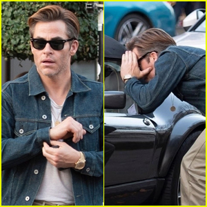 Chris Pine Checks Out a Hot Classic Car in London!
