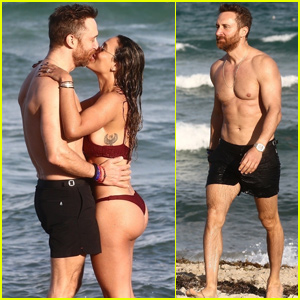 David Guetta Shows PDA With Girlfriend Jessica Ledon During Miami Vacation