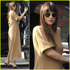 Dakota Johnson Goes Chic for Day at the Studio!