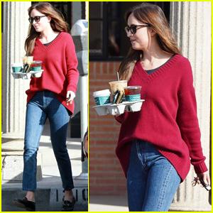 Dakota Johnson Kicks Off Her Day With a Coffee Run!