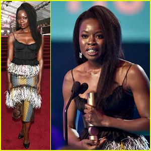Black Panther's Danai Gurira Wins Peoples' Choice Award for Action Movie Star!