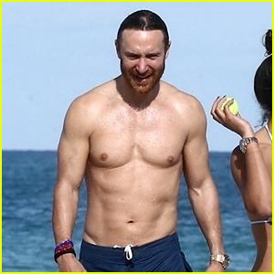 DJ David Guetta Bares Ripped Beach Body at 51