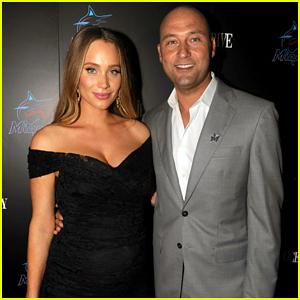 Derek Jeter Says Pregnant Wife Hannah 'Deserves A Lot of Credit'