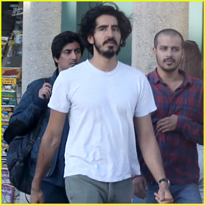 Dev Patel Joins Friends for a Casual Mid-Week Lunch