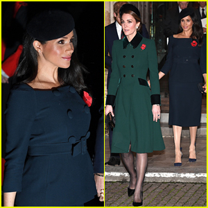Duchesses Kate Middleton & Meghan Markle Attend Second Remembrance Day Event