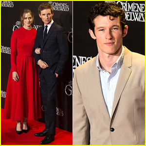 Eddie Redmayne Gets Support from Wife Hannah at 'Fantastic Beasts' at Madrid Premiere!