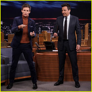 Eddie Redmayne Performs a Magic Trick for Jimmy Fallon - Watch!