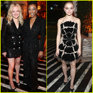 Elisabeth Moss, Samira Wiley, & Joey King Step Out for Hulu's Holiday Party!