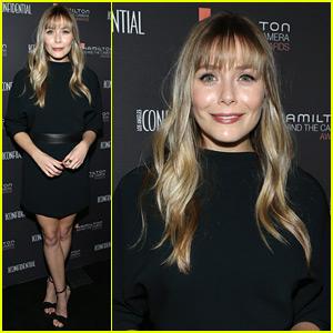 Elizabeth Olsen Debuts New Bangs at Hamilton Awards!