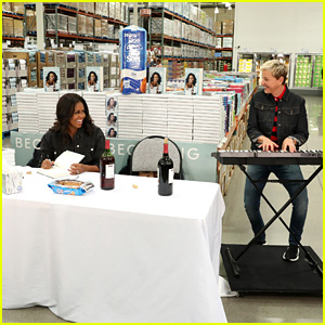 Ellen DeGeneres Helps Michelle Obama at a Costco Book Signing - Watch a Sneak Peek!