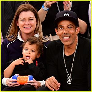 Ellen Pompeo & Husband Chris Ivery Take Son Eli to Knicks Game!