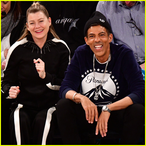 Ellen Pompeo & Husband Chris Ivery Sit Courtside at Knicks Game in NYC!