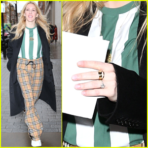 Ellie Goulding Shows Off Stunning Engagement Ring in London!