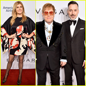 Connie Britton Joins Elton John & David Furnish at Annual AIDS Foundation Benefit