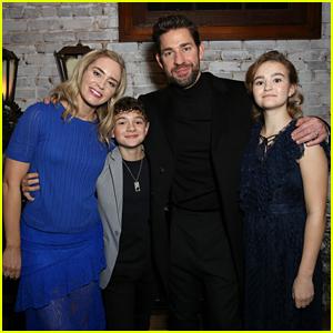 Emily Blunt & John Krasinski Reunite Their 'A Quiet Place' Family for Special Screening!