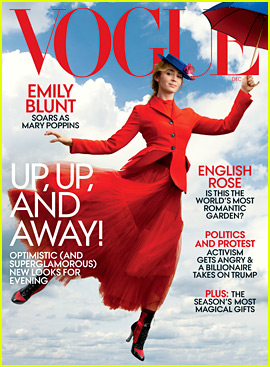 Emily Blunt Flies Away as Mary Poppins on 'Vogue' Cover!