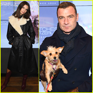 Emily Ratajkowski Joins Liev Schreiber & His Dog Woody at Watches of Switzerland Launch Party!