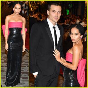 Engaged Zoe Kravitz & Karl Glusman Couple Up at 'Fantastic Beasts' Paris World Premiere!