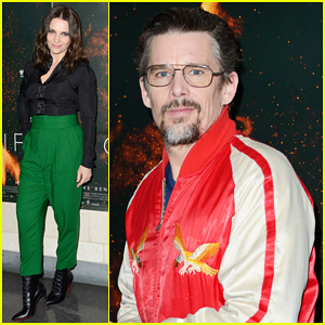 Ethan Hawke Supports Juliette Binoche at 'High Life' Paris Premiere!