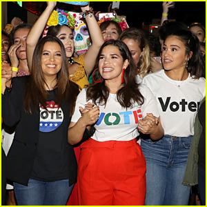 Eva Longoria, America Ferrera, Gina Rodriguez & More Rally Voters Ahead of Midterm Elections!