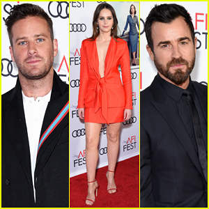 Felicity Jones, Armie Hammer & Justin Theroux Open AFI Fest with 'On The Basis Of Sex' Premiere!