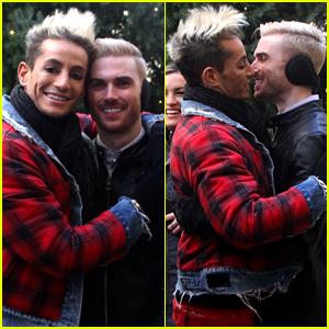 Frankie Grande Kisses Boyfriend Mike Pophis in Cute Photos!