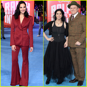 Gal Gadot Sarah Silverman Bring Ralph Breaks The Internet To London Gal Gadot John C Reilly Sarah Silverman Just Jared