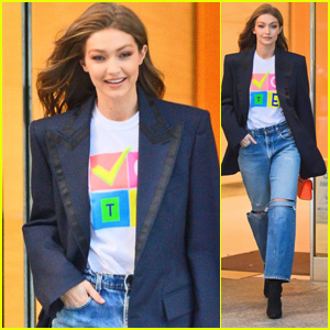 Gigi Hadid Wears a 'Vote' Shirt Ahead of Midterm Elections!