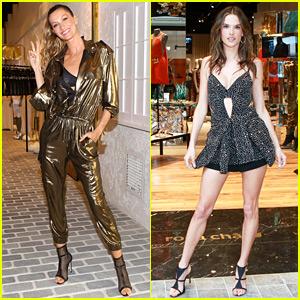 Gisele Bundchen & Alessandra Ambrosio Attend Rosa Cha's L.A. Store Opening