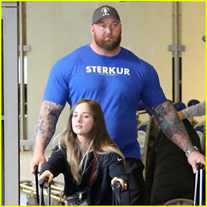 Game of Thrones' The Mountain Towers Over His Wife at LAX