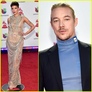 Halsey & Diplo Hit the Red Carpet at Latin Grammy Awards 2018