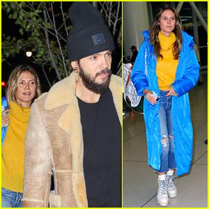 Heidi Klum & Boyfriend Tom Kaulitz Jet Out of NYC After Epic Halloween Party!