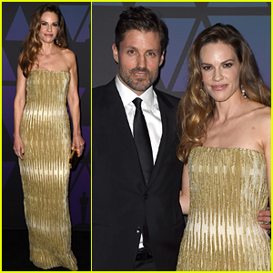 Hilary Swank & Husband Philip Schneider Enjoy a Date Night at Governors Awards 2018!