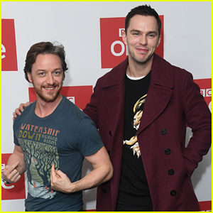 James McAvoy & Nicholas Hoult Buddy Up for 'Watership Down' Photo Call