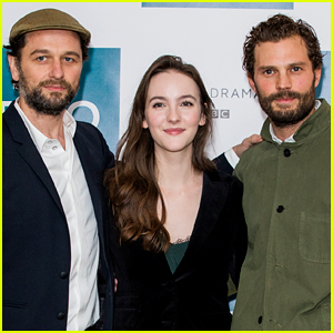 Jamie Dornan Joins His Co-Stars at 'Death & Nightingales' Photo Call!