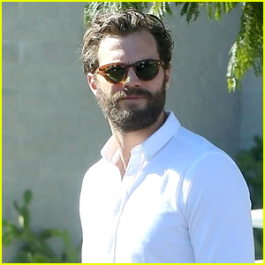 Jamie Dornan Heads to Set For Another Day of Filming