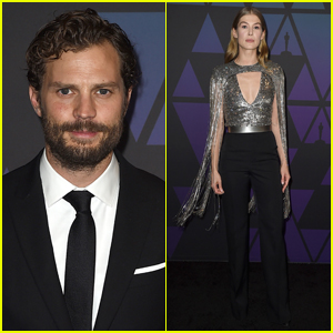 'A Private War' Co-Stars Jamie Dornan & Rosamund Pike Attend Governors Awards 2018!