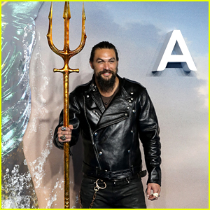 Jason Momoa Brings Aquaman's Trident to London Premiere!