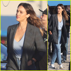 Jessica Alba Films Scenes for 'L.A.'s Finest' in Venice Beach!