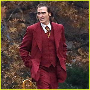 Joaquin Phoenix Films a Cemetery Scene for 'Joker' Movie
