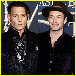 Johnny Depp Joins Jude Law at 'Fantastic Beasts' UK Premiere!