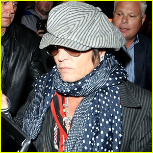 Johnny Depp Heads Out After Performing at Chuck Berry Tribute Concert in London!