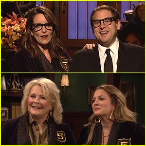 Jonah Hill Gets Inducted to 'SNL' Five-Timers Club by Tina Fey, Candice Bergen, & Drew Barrymore - Watch Now!