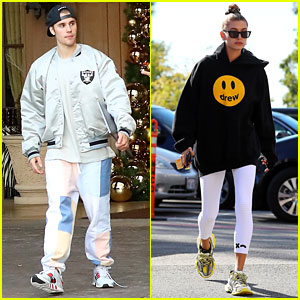Justin Bieber Hits the Studio as Wife Hailey Supports His Drew Clothing Line