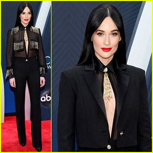 Kacey Musgraves Stuns in Sheer Top & Chic Suit at CMA Awards 2018!