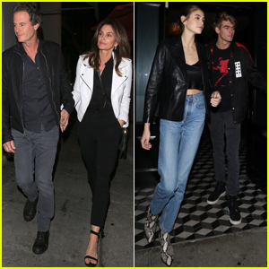 Cindy Crawford & Rande Gerber Join Kids Kaia & Presley For Family Dinner