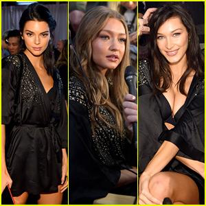 Kendall Jenner, Gigi Hadid, & Bella Hadid Prep Backstage for VS Fashion Show 2018!